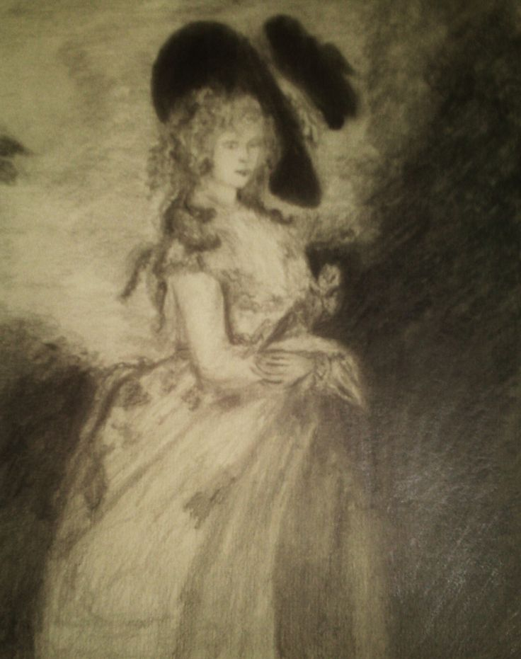 The Dutchess of Devonshire my pencil drawing after Gainsborough. I love this one. The Piper.