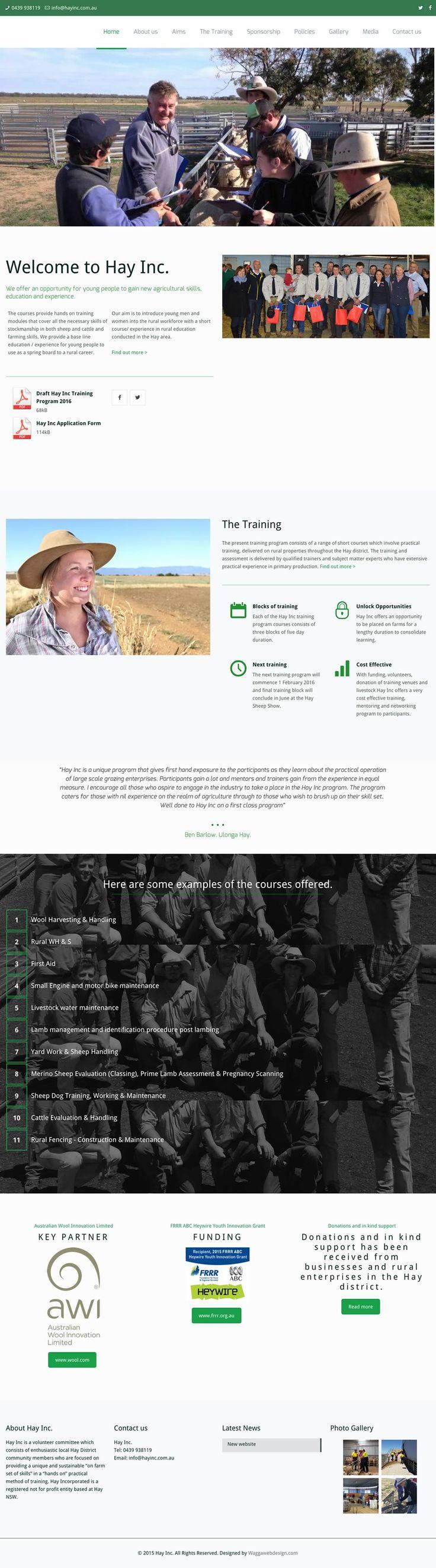 Wagga Web Design   Hay Inc - Wagga Web Design