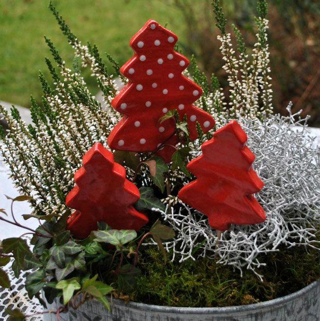 Weihnachtliche Gartenstecker