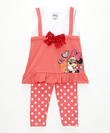 This Pink & White 'Cute as It Gets' Tunic & Leggings - Toddler is perfect! #zulilyfinds