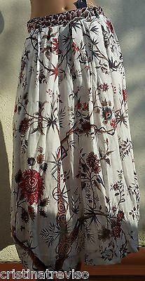 HIGH use jupe longue ramie fleurs indienne MELODY long flower skirt rock gonna