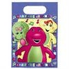 Barney Deluxe Value Pack.  Contains:   8 Invitations and 8 Thank you cards   16 Luncheon Napkins   8 Dinner Plates   8 Dessert Plates   8 Cups   1 Barney Plastic Tablecover   6 Barney Balloons   8 Heavy Duty Plastic Forks   8 Heavy Duty Plastic Spoons   2 Crepe Streamers (81' each)   8 Loot Bags