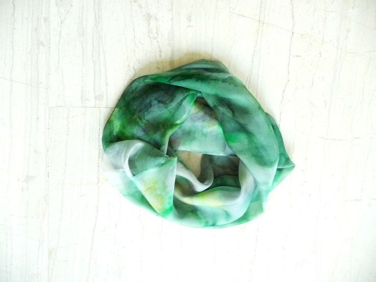Handpainted silk scarf 46cm x 160cm