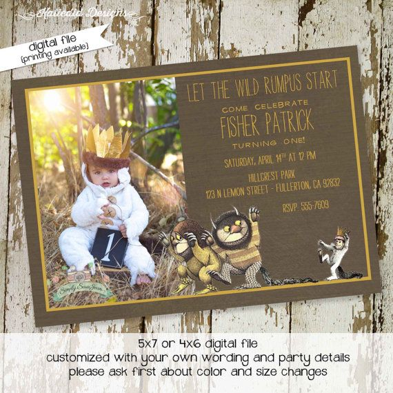 Where the wild things are birthday party by katiedidesigns on Etsy, $13.00