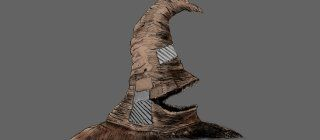 Sorting Hat Illustration with grey background