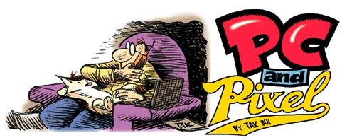 PC and Pixel by Tak Bui   http://gocomics.com/pcandpixel   #comics #humior #lol   © Tak Bui