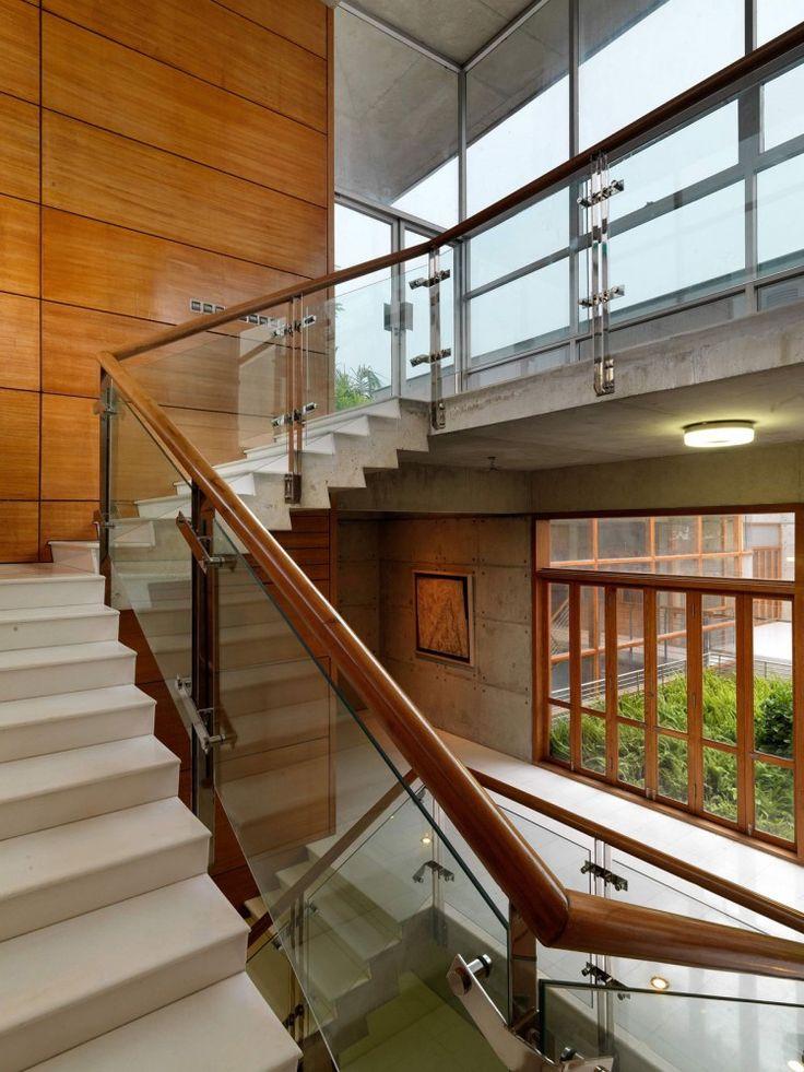 Glass Balustrades In SA Residence Dhaka Bangladesh Designed By Shatotto Architects