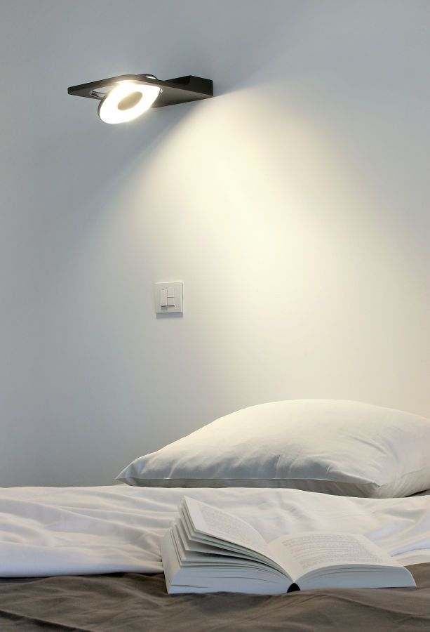 Contemporary wall light adjustable spock by couvreur devos modular lighting instruments