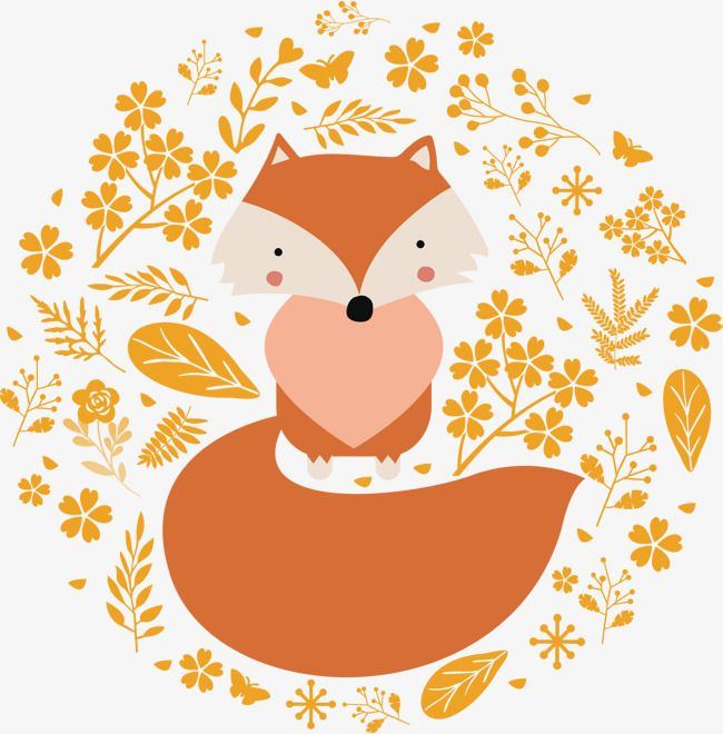 Pretty Little Fox Vector Fox Clipart Fox Big Tail Png And Vector With Transparent Background For Free Download Fox Sketch Fox Crafts Pretty Drawings