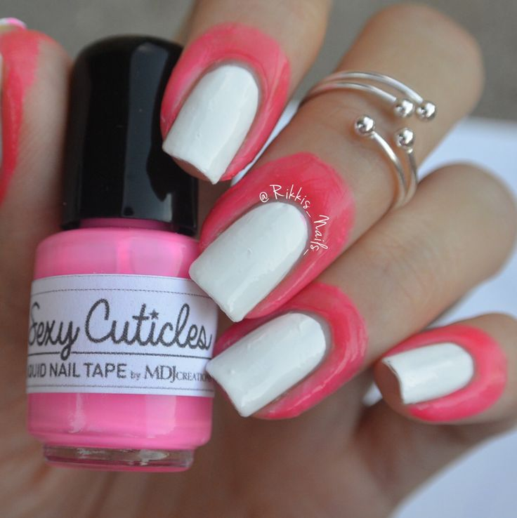 New! Sexy Cuticles Liquid Nail Tape, contains latex, ammonia FREE, hot pink, no mess, peel clean and glitter removal base coat MDJ Creations by MDJCreations on Etsy https://www.etsy.com/listing/230273738/new-sexy-cuticles-liquid-nail-tape