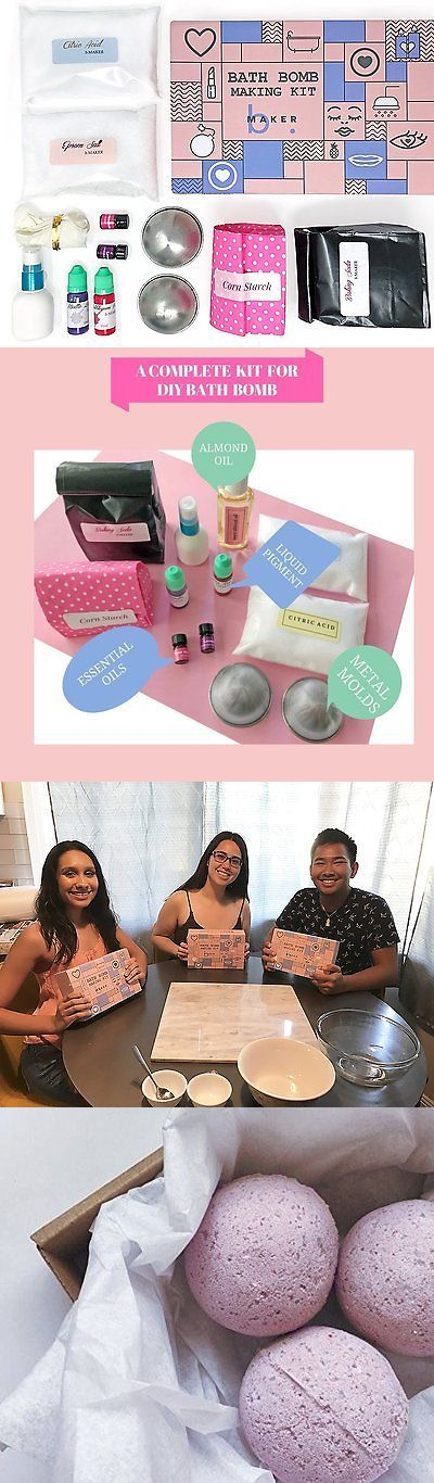Bath Bombs and Fizzies: Bmaker Bath Bomb Making Kit- Complete Kit For Making Diy 8 Scented Bath Bombs Wi -> BUY IT NOW ONLY: $39.62 on eBay!