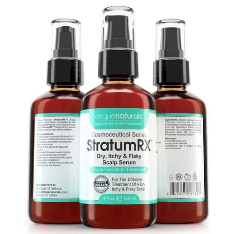 Scalp Treatment For Dry, Psoriasis, Eczema, Itchy And Flaky Scalp - StratumRX Serum