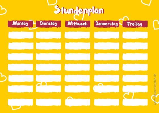 Schulanfang: Stundenplan zum gratis Download ⋆ einfach Stephiehttp://einfachstephie.de/2015/08/12/schulanfang-stundenplan-zum-gratis-download/