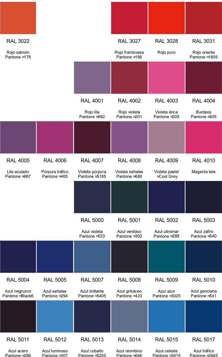 Colores RAL - Pinar SA : Carta de colores RAL en español                                                                                                                                                                                 Más
