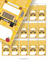 FREE School Miniature wrappers you can edit