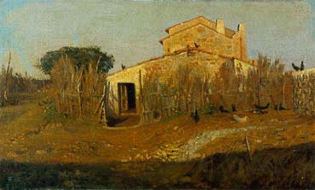 Toscane, maison à Castiglioncello, par Giuseppe Abbati