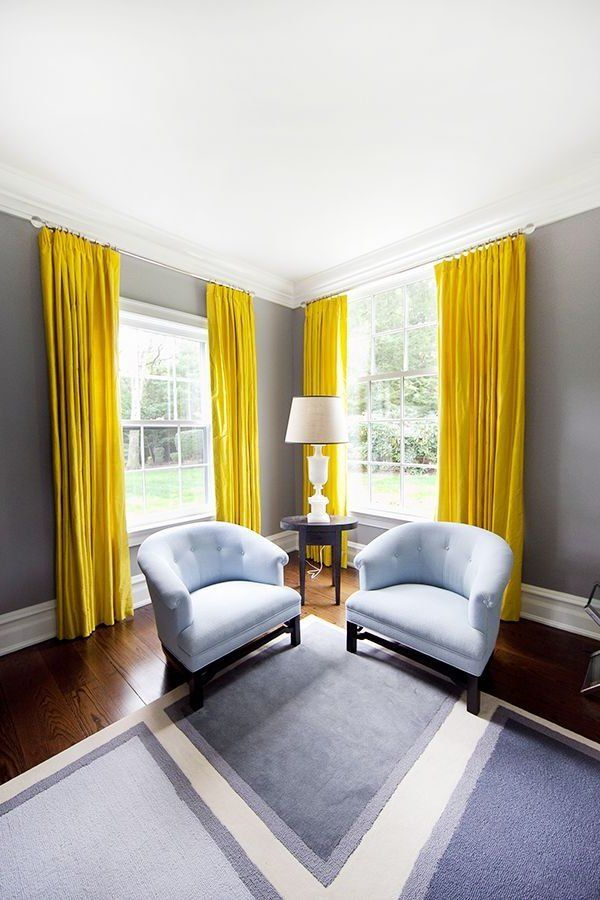 plus de 25 id es rideaux jaunes tendance sur pinterest int rieur jaune et chambres gris jaune. Black Bedroom Furniture Sets. Home Design Ideas