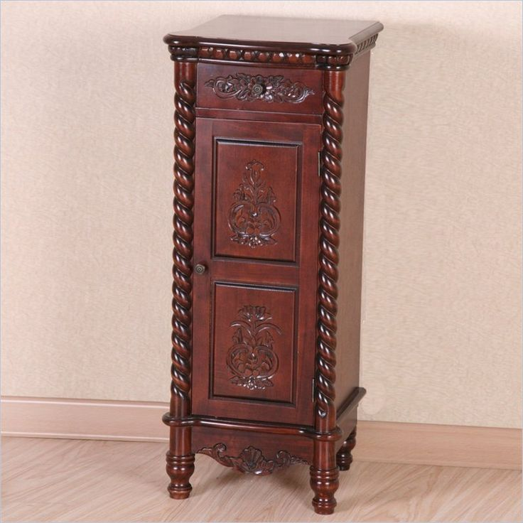 Windsor 1 Drawer Tall Accent Table in Dual Walnut Stain - 3809
