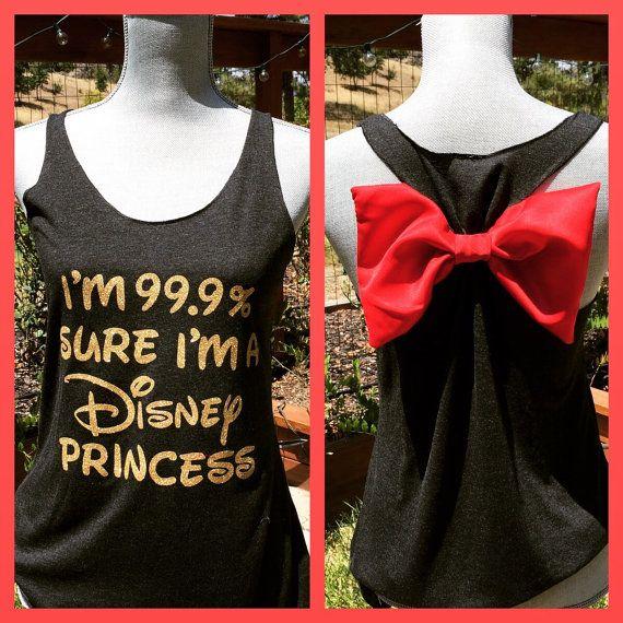 Disney Princess bow back tank top! Perfect Disneyland shirt. So cute :-)