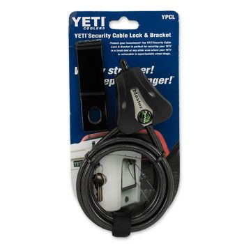 Yeti Coolers Security Cable Lock & Bracket #yeti #lock