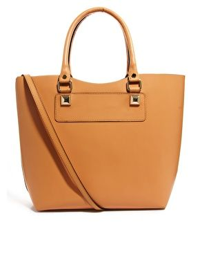 River Island   River Island Hard Leather Tote at ASOS