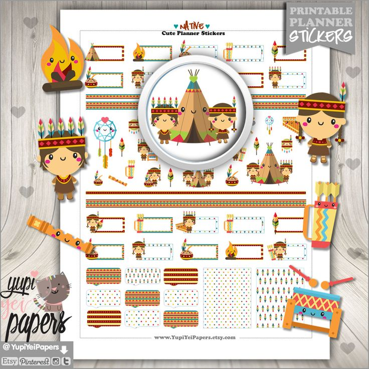 50%OFF - Native Stickers, Planner Stickers, Cute Stickers, Planner Accessories, Indian, Native American, Dreamcatcher