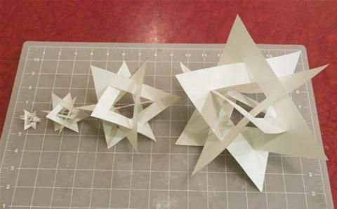 How to make an orderly tangle of triangles – great for a geometry class!