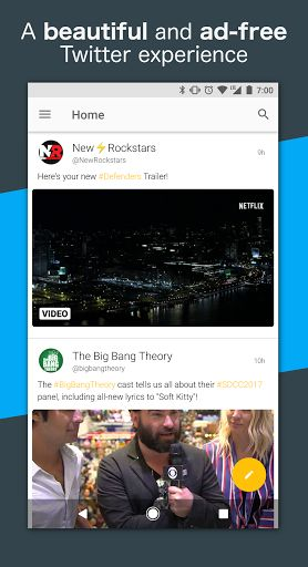 Talon for Twitter (Plus) v6.8.0 [Patched]   Talon for Twitter (Plus) v6.8.0 [Patched]Requirements:4.4Overview:Created with Material Design at its core Talon for Twitter includes stunning layouts eye catching animations and that buttery smoothness you should expect from the latest and greatest apps.  Talon gives you everything you could ever need to experience Twitter.  Custom Materialized theme engine for fine-grained color control. Completely custom swipe-able pages for the main screen…