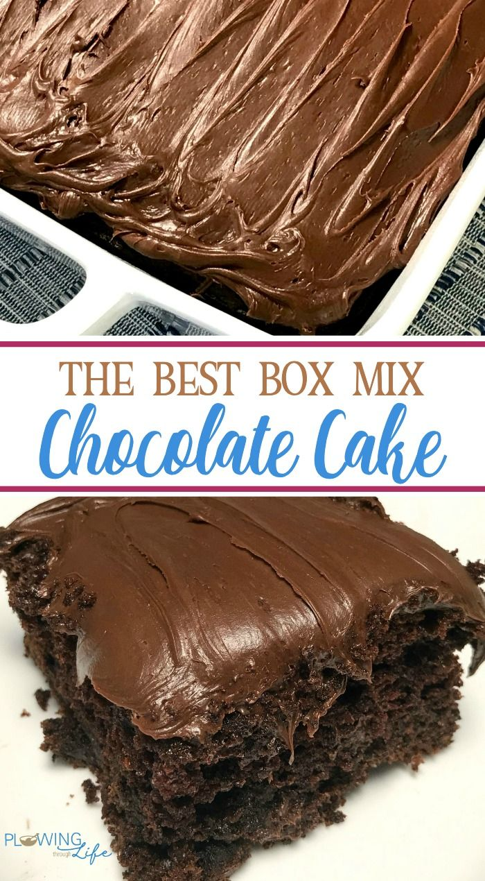 Box Mix Chocolate Cake With Only A Few Easy Ingredients Added Is