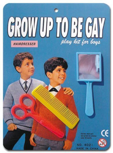 'Grow Up To Be Gay' play set for boys (Hairdresser Edition)...vintage toy.