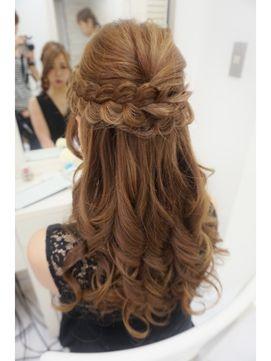 パーティーハーフアップ - 24時間いつでもWEB予約OK!ヘアスタイル10万点以上掲載!お気に入りの髪型、人気のヘアスタイルを探すならKirei Style[キレイスタイル]で。