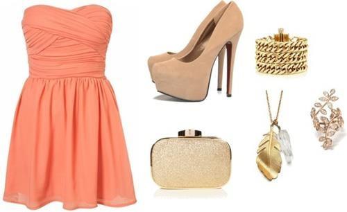 Vestido color coral | VESTIDOS CORTOS | Pinterest