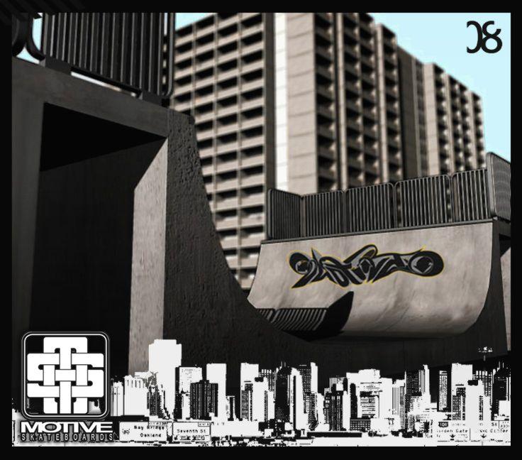 3D render design for Motive Skateboards.