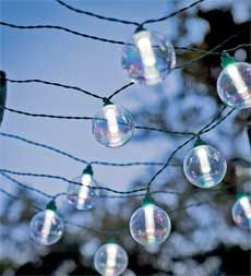Globe Solar String Lights $40 (I want to hang these up next summer on our yet to be built deck!)