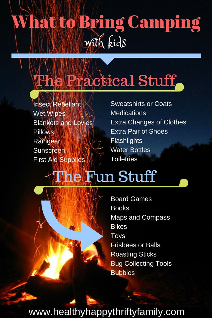 What to bring camping with kids - what to pack for your trip