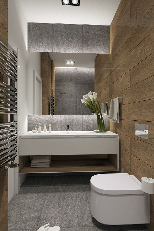 Half bathroom should be modern and clean; won't be used except by guests. Room for flowers, different walls as contrast.
