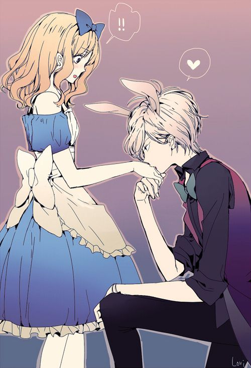 Diabolik Lovers Subaru x yui cute anime couple Alice in Wonderland