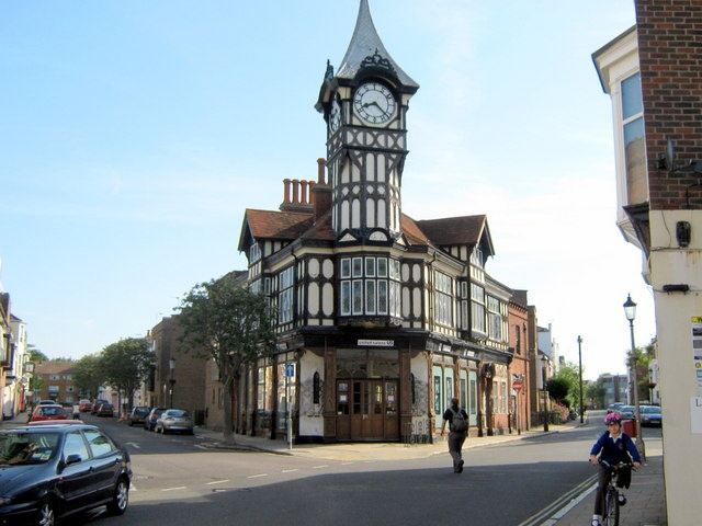 The Clock Tower..Castle Road and Great Southsea Street, Southsea.