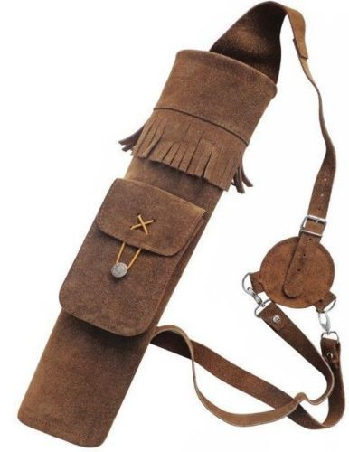 ARCHERY-TRADITIONAL-LEATHER-BACK-ARROW-QUIVER-AQ118