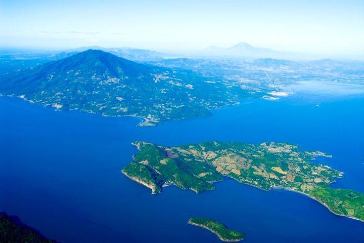 vista del golfo de fonseca y volcan conchagua en la union el salvador c.a