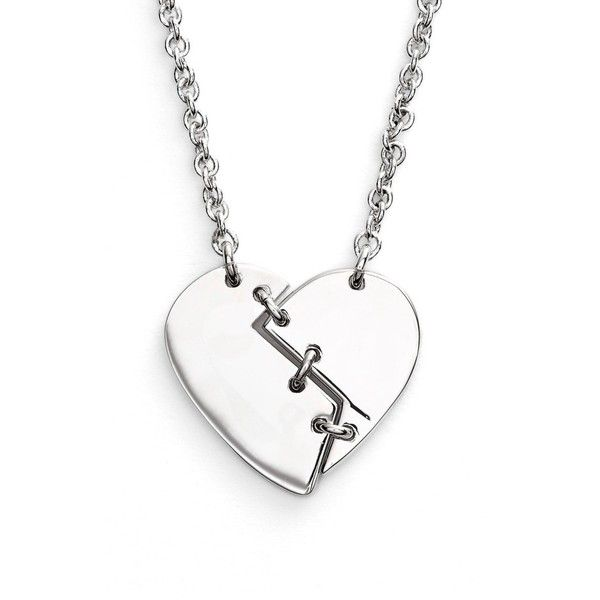 Marc by Marc Jacobs 'Broken Heart' Pendant Necklace (130 BRL) ❤ liked on Polyvore featuring jewelry, necklaces, accessories, heart shaped pendant necklace, heart jewelry, heart shaped necklace, marc by marc jacobs and pendant necklace