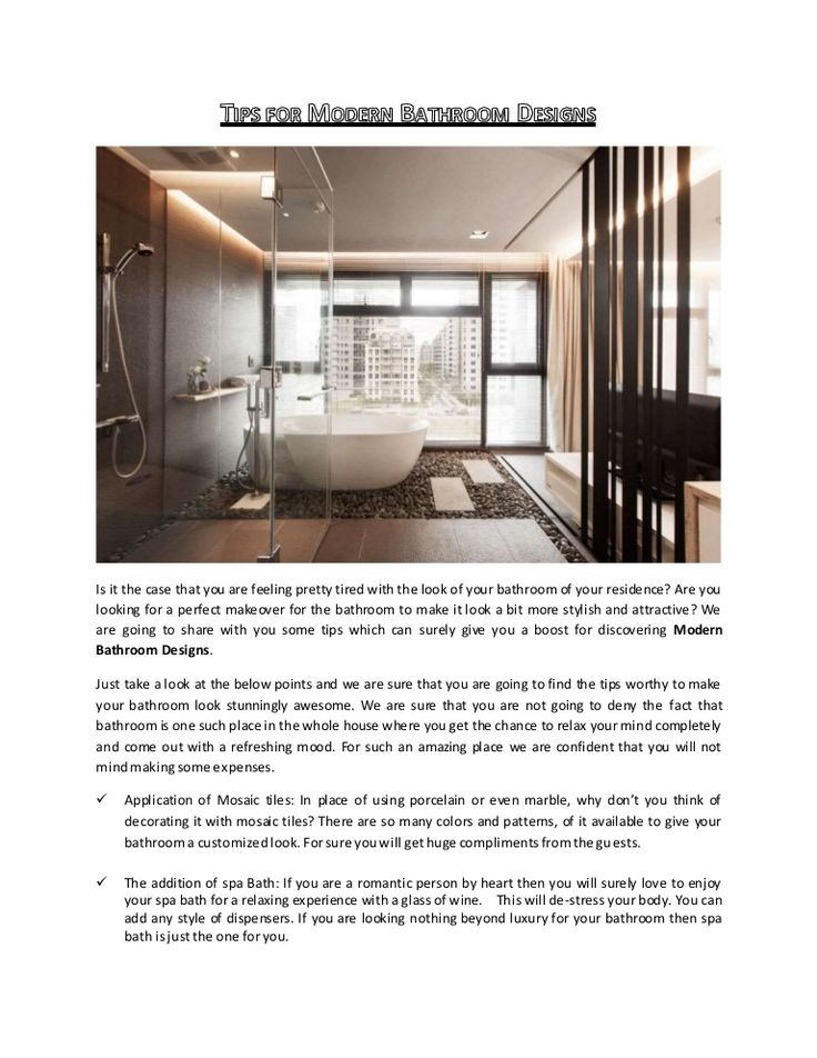 Are you looking for a perfect makeover for the bathroom to make it look a bit more stylish and attractive? We are going to share with you some tips which can surely give you a boost for discovering #Modern #Bathroom #Designs