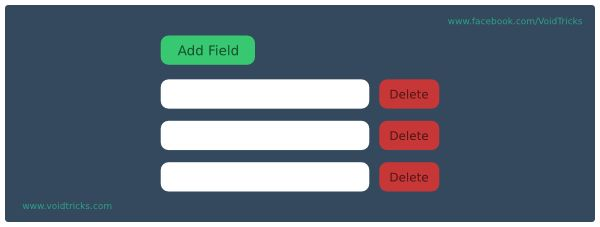 jQuery Add/Remove Input Fields Dynamically