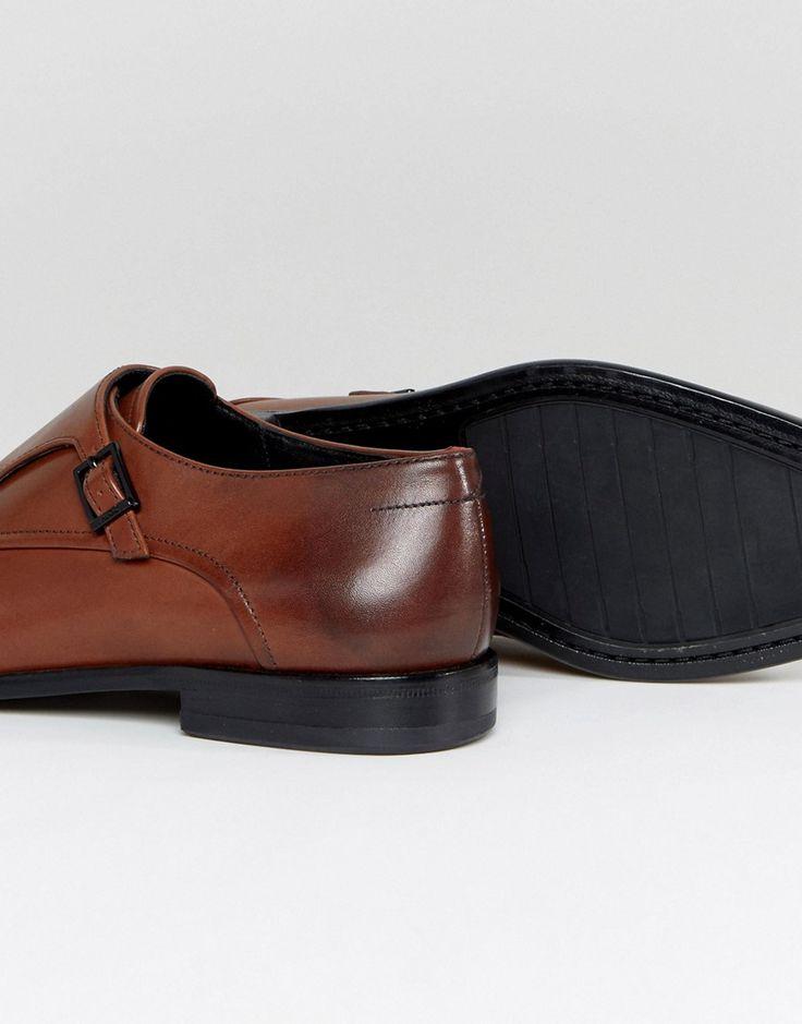HUGO by Hugo Boss Dressapp Burnished Calf Leather Double Strap Monk Sh