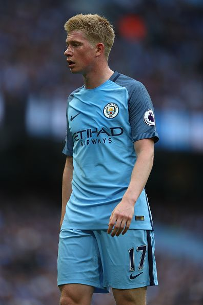 Kevin De Bruyne of Manchester City during the Premier League match between Manchester City and Sunderland at the Etihad Stadium on August 13 2016 in...