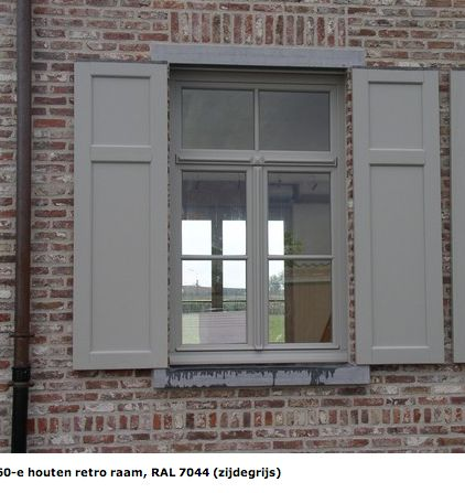RAL 7044 SILK GREY window & shutters