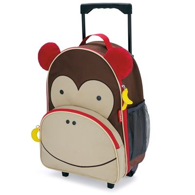 Monkey suitcase. Perfect children's luggage for kids that travel.In Stock.