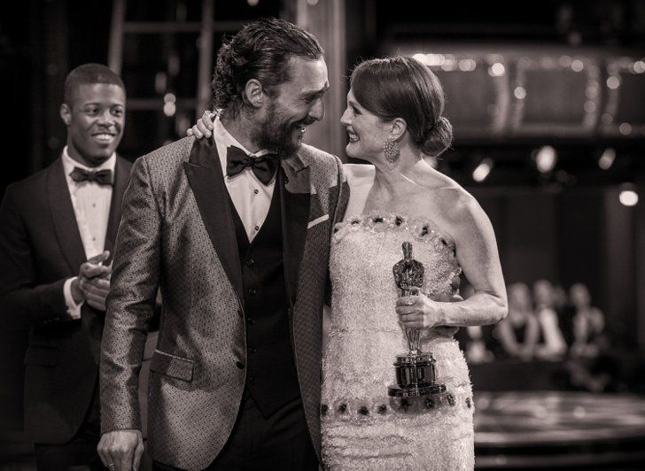 Pin for Later: Stunning Oscars Pictures You Haven't Seen Yet Matthew McConaughey and Julianne Moore