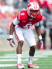 WISCONSIN FOOTBALL 2014 Cornerback Sojourn Shelton is likely to draw the toughest pass coverage assignments for the Badgers this season.