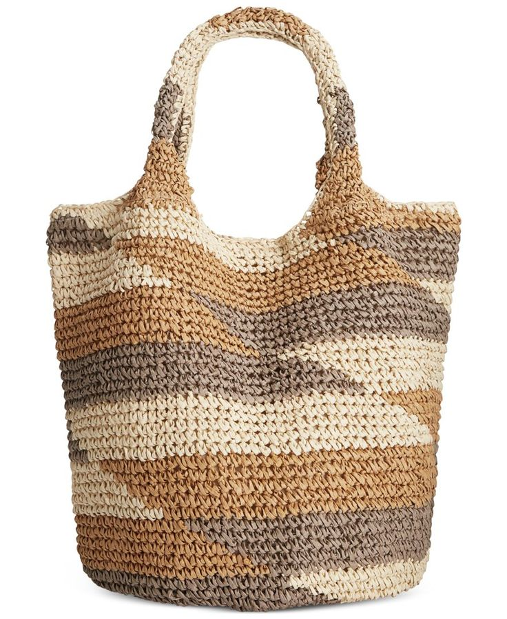 Straw Studios Large Multi Straw Tote